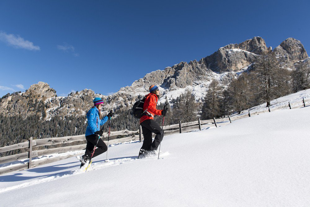 Winter idyll during your family skiing holiday in South Tyrol on the Alpe di Siusi