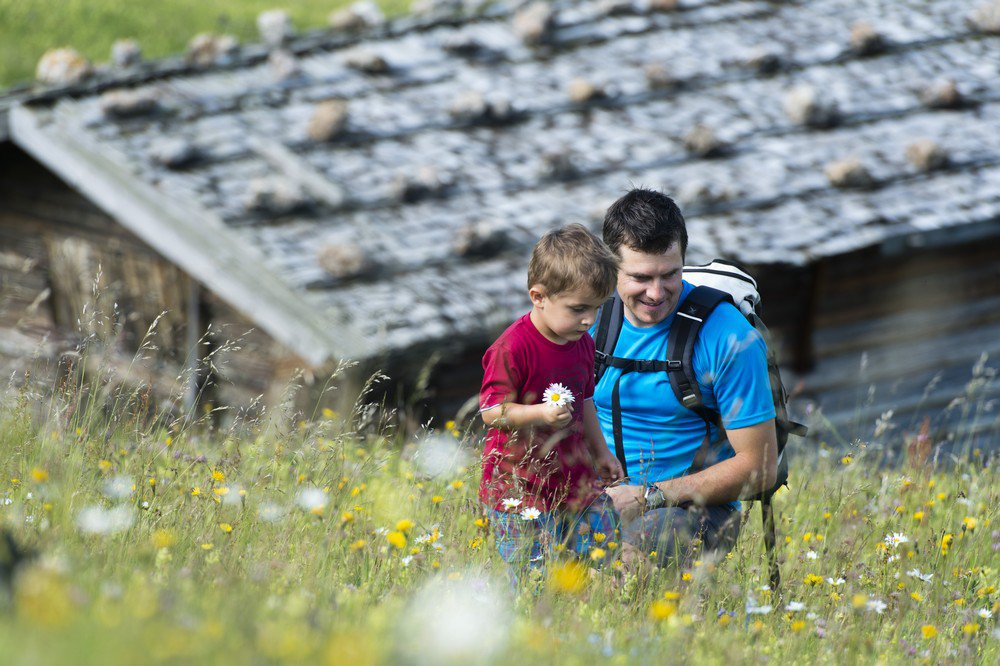 Hiking on the Seiser Alm