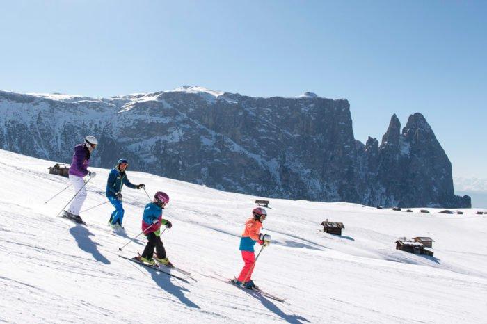 Familien Skiurlaub in Südtirol - Wintersportparadies Seiser Alm